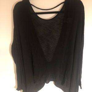 Free People Black Shirt